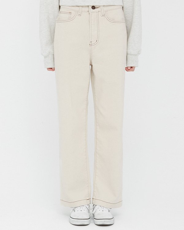 well stitch line cotton pants (s, m, l)