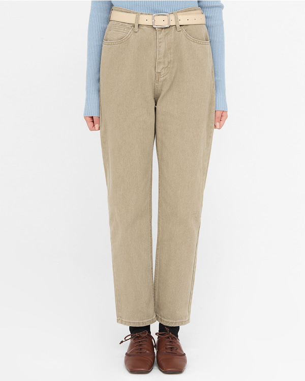 colored straight denim pants (s, m, l)