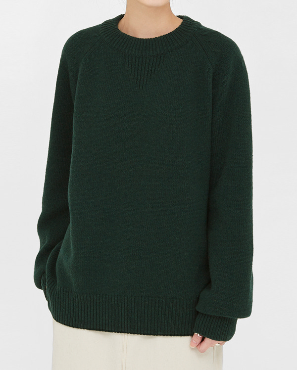 classic round wool knit