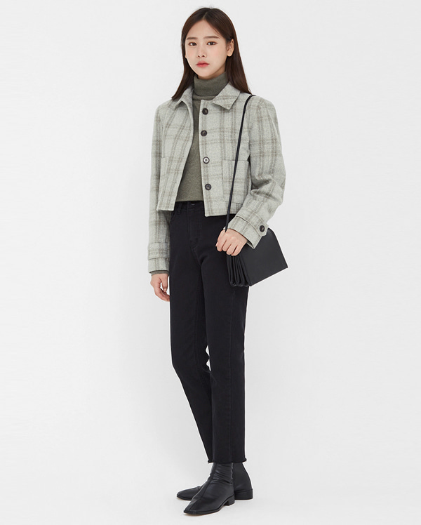 hush check short jacket