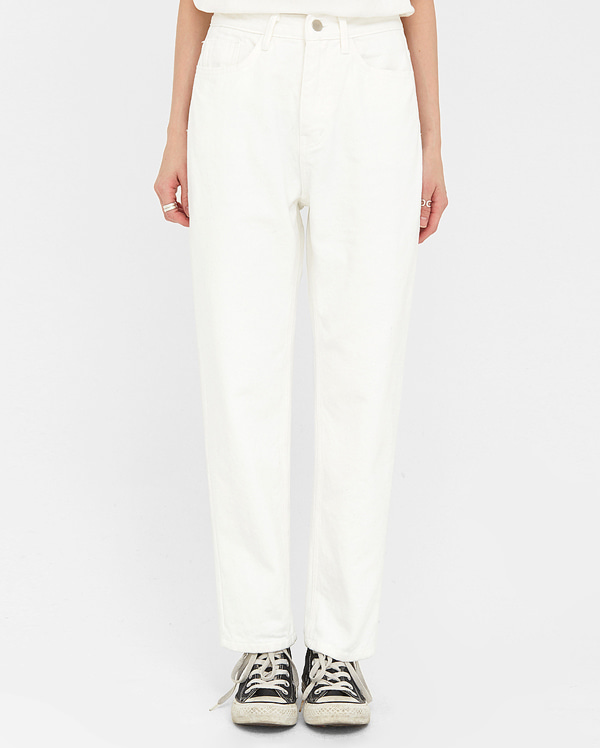 delicate straight cotton pants (s, m, l)