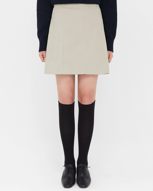 suede line mini skirts (s, m)