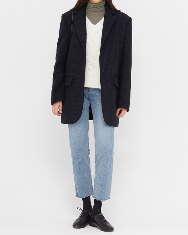 need wool check jacket