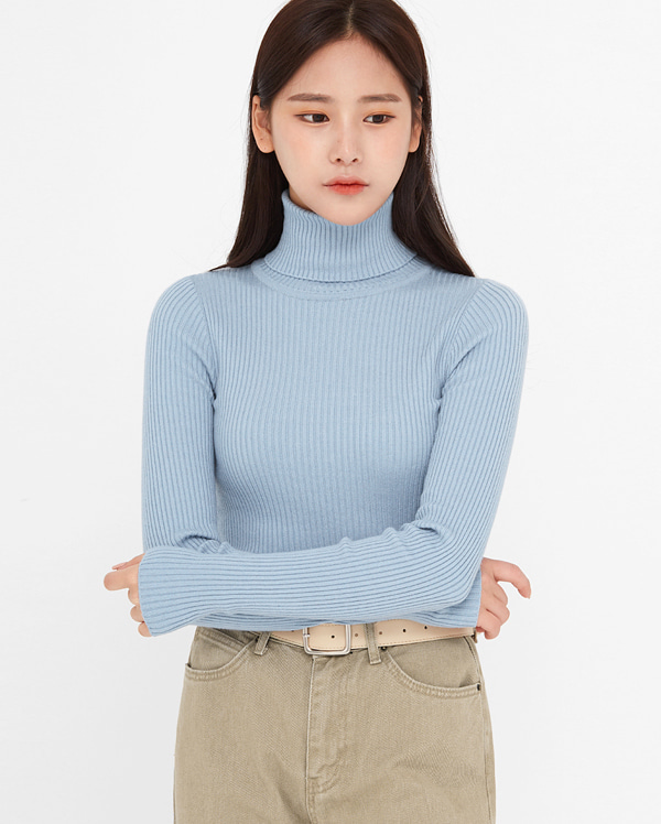 glam golgi turtleneck knit
