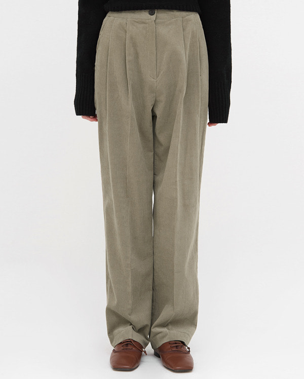 cookie corduroy straight pants (s, m)