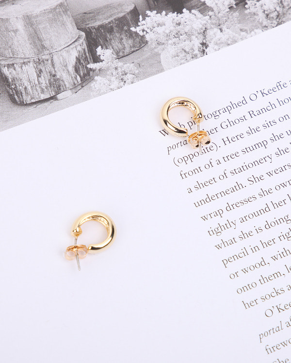 pure and simple ring earring
