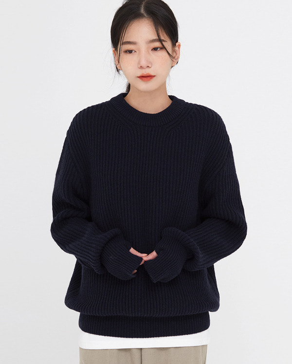 hands warmer round wool knit