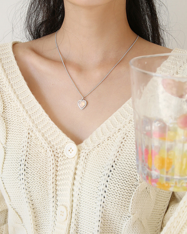 a layered heart necklace