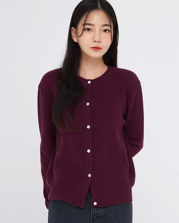 want daily wool round cardigan