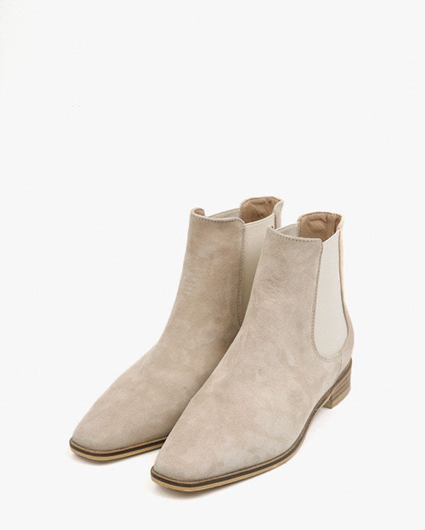tin shape sheepskin ankle boots (225-250)