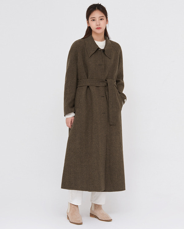 nuts feminine handmade wool coat