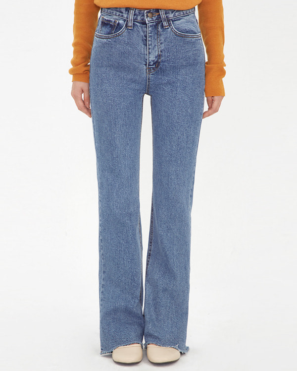 flared washing denim pants (s, m, l)