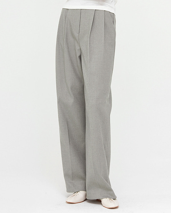 cover pintuck wide slacks (s, m)