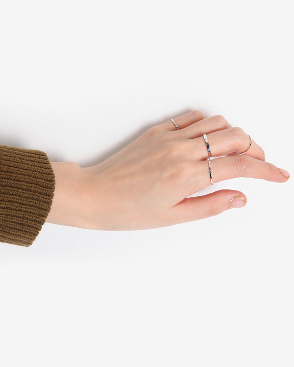 simple line ring set