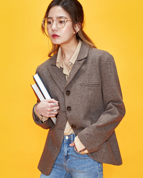 square shoulder check jacket