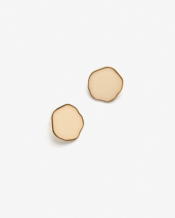 wave circle earring