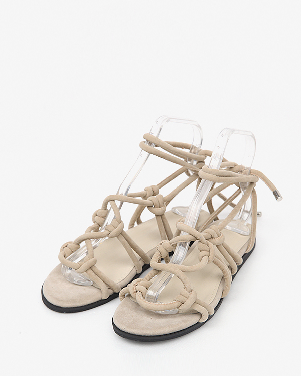 thick strap natural sandal (2 colors)