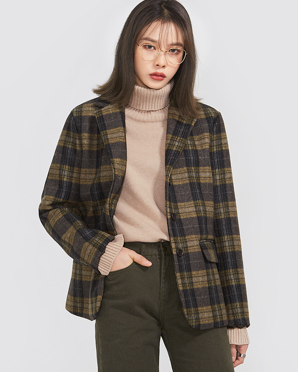 ray check vintage wool jacket