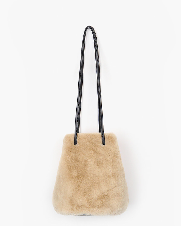 touching fur bag