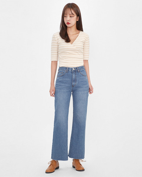 natural mood highwaist pants (s, m)