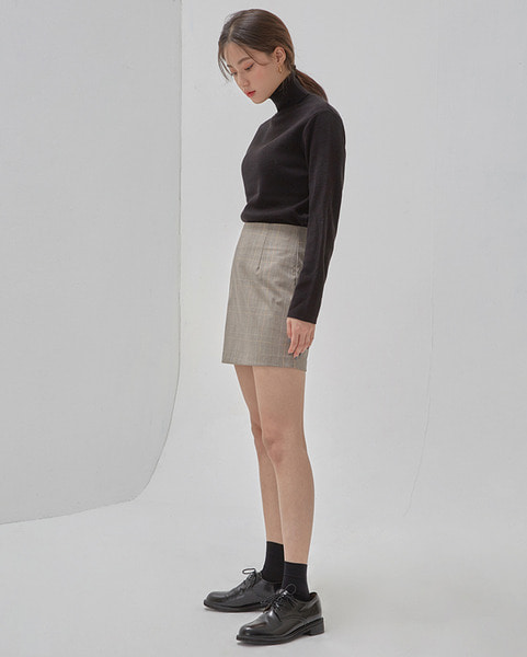 channel check mini skirt (s, m)