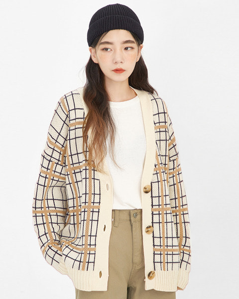 sweet check cardigan