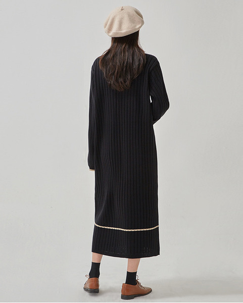 soft ladyish knit long ops