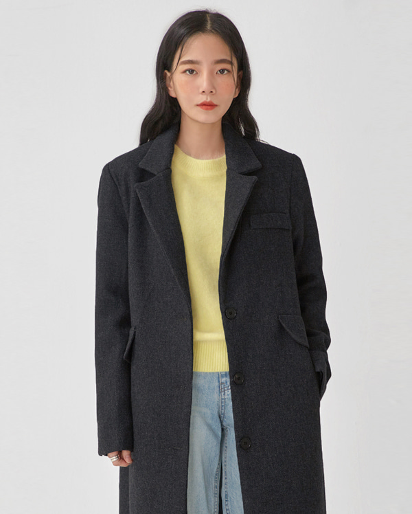 loel modern single wool coat