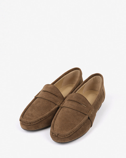 shy suede loafer
