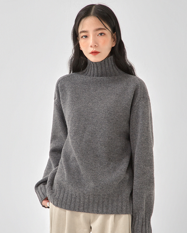golgi neck wool polar knit