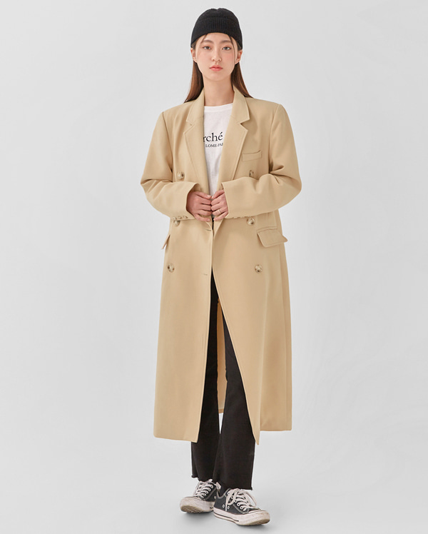 well double long coat