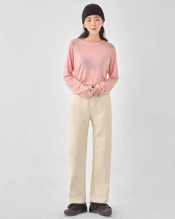 more straight cotton pants (s, m, l)
