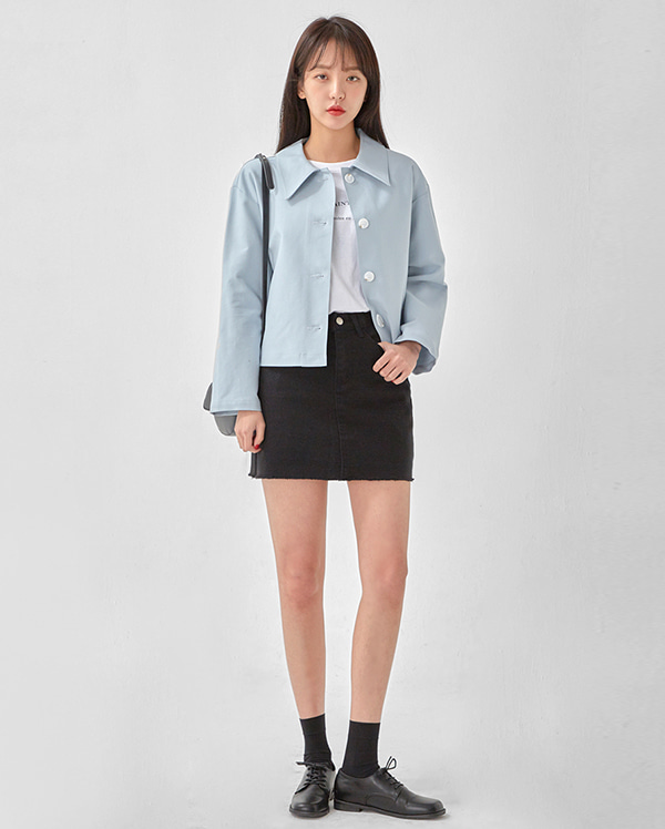 ladyish cotton mini skirt (s, m, l)