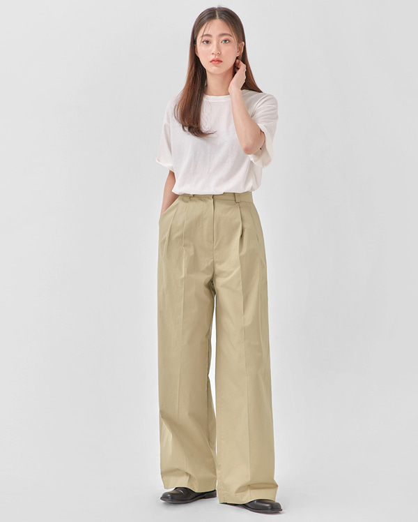 rustle cotton wide pants (s, m)