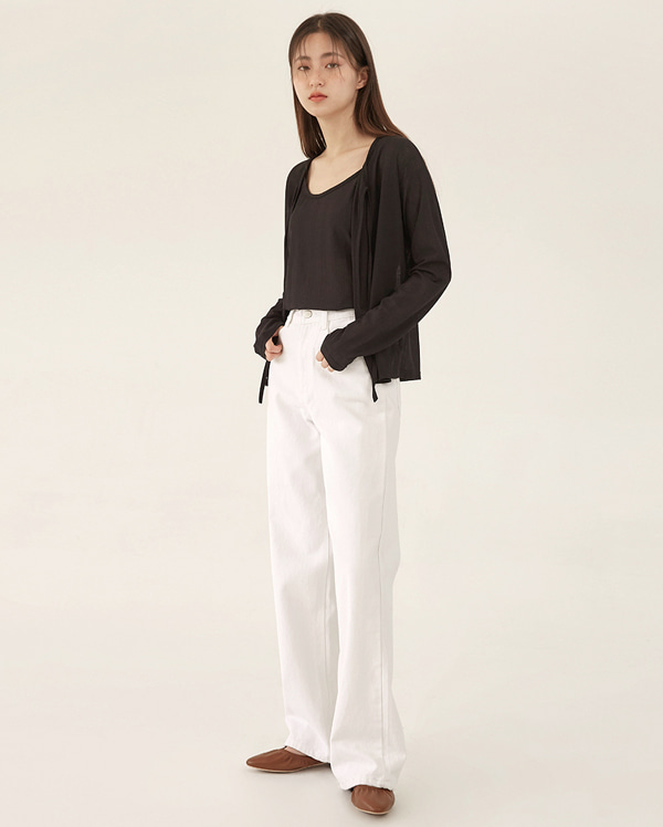 pure cotton wide pants (s, m, l)
