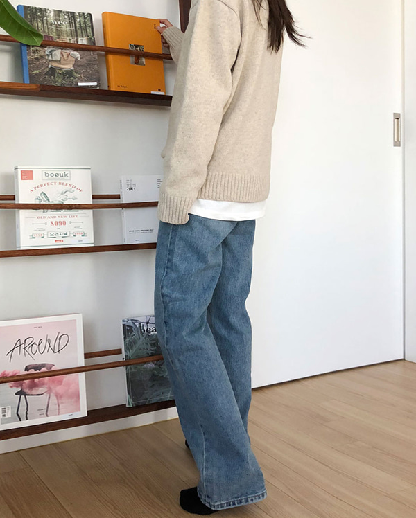 post long denim pants (s, m, l)