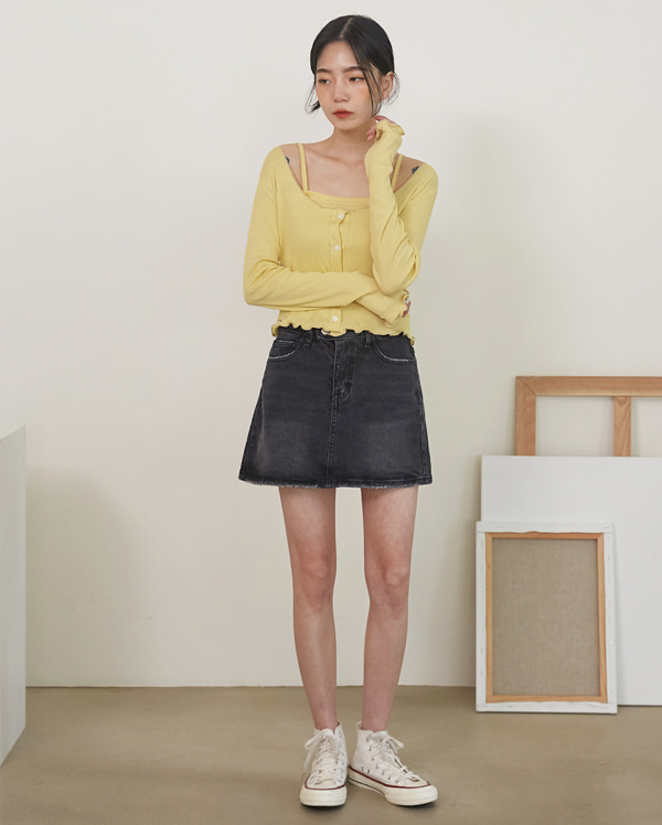 cos denim pants skirt (s, m)