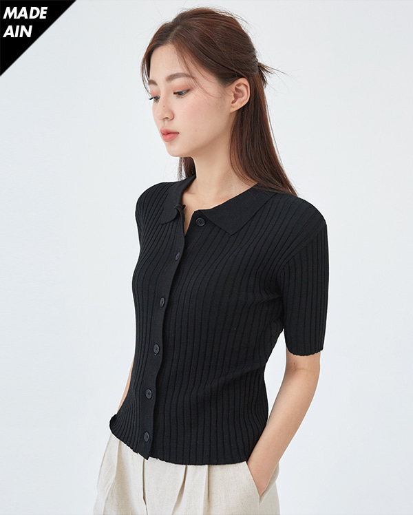 FRESH A golgi collar knit
