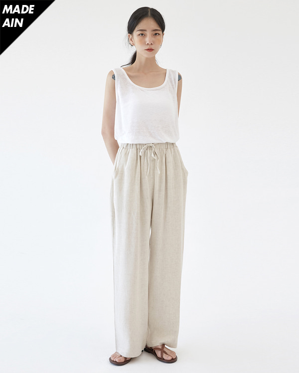 FRESH A linen square sleeveless