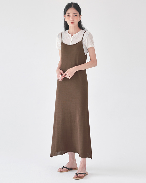 plain knit sleeveless ops