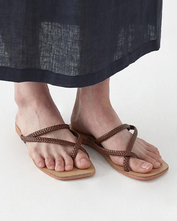 rope twist flip slipper (225-250)