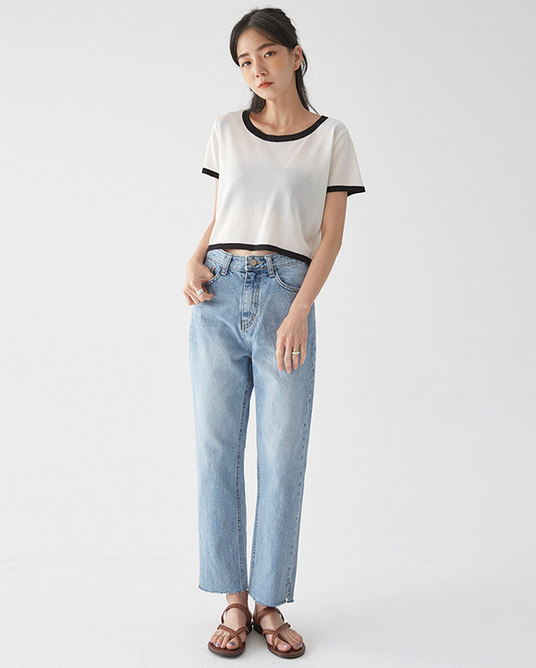 core straight denim pants (s, m, l)