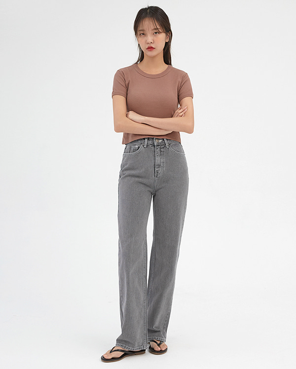 profound straight denim pants (s, m, l)
