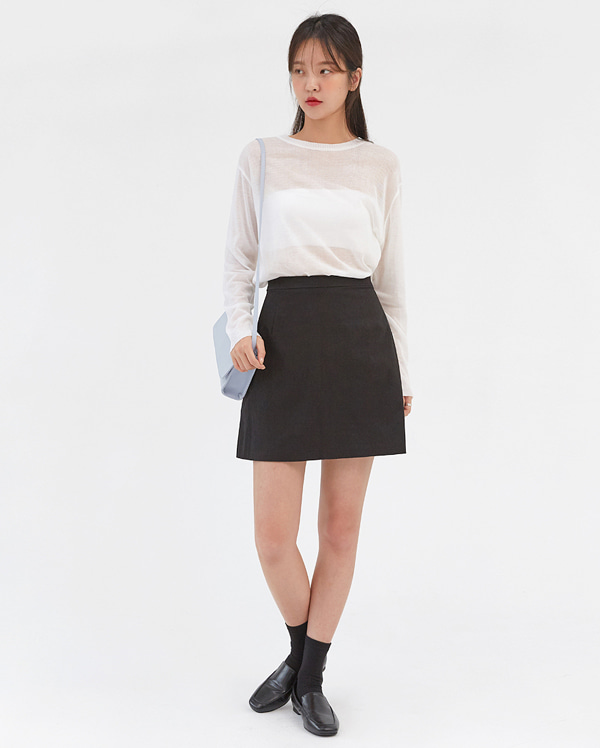june mini linen skirt (s, m)