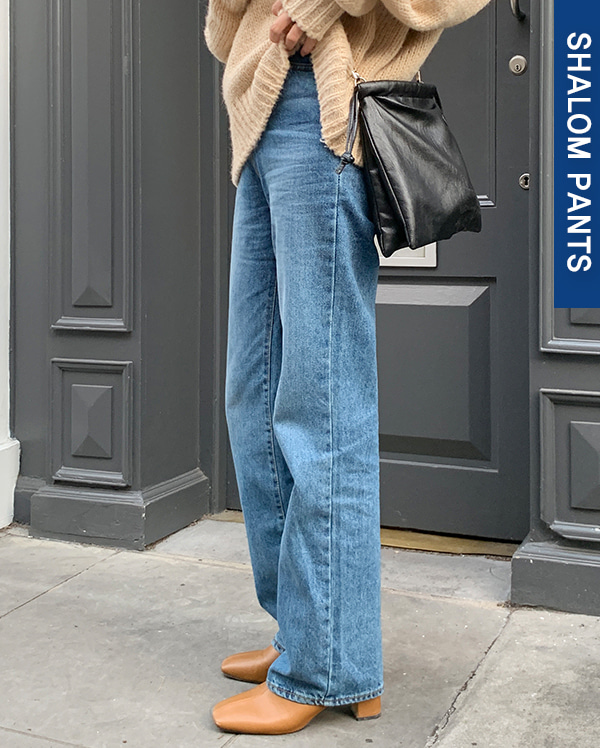 long deep denim pants (s, m, l)