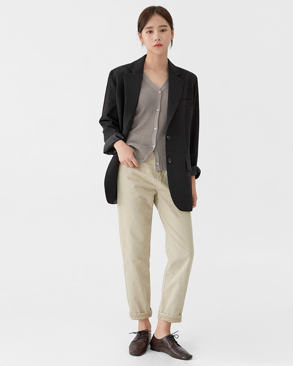 off straight cotton pants (s, m)