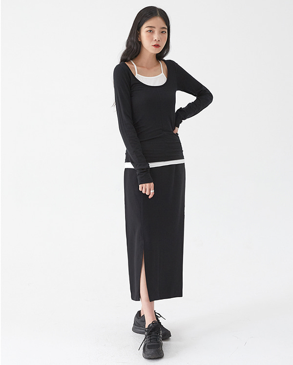call sound long skirt (s, m)