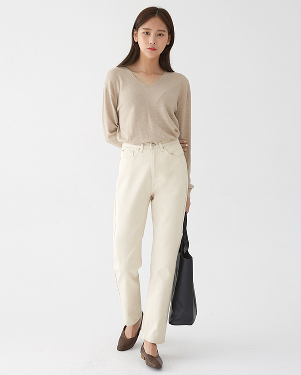 a grace cream pants (s, m)
