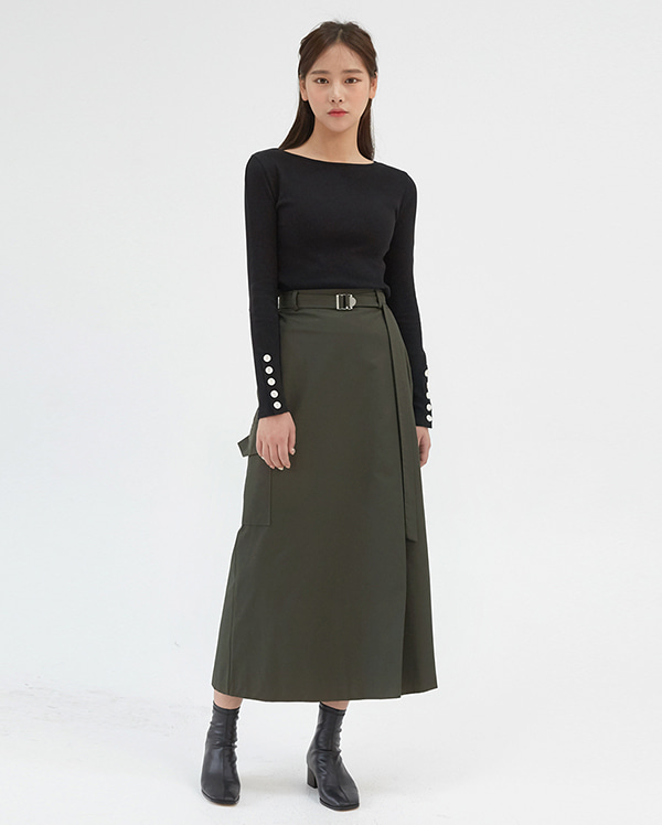 elf pocket long skirts