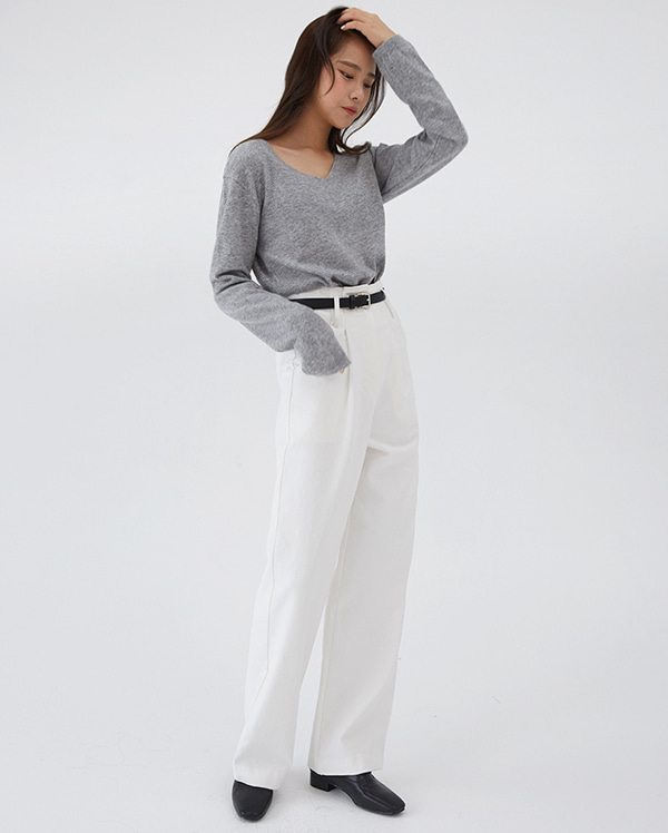 basil long wide pants (s, m)